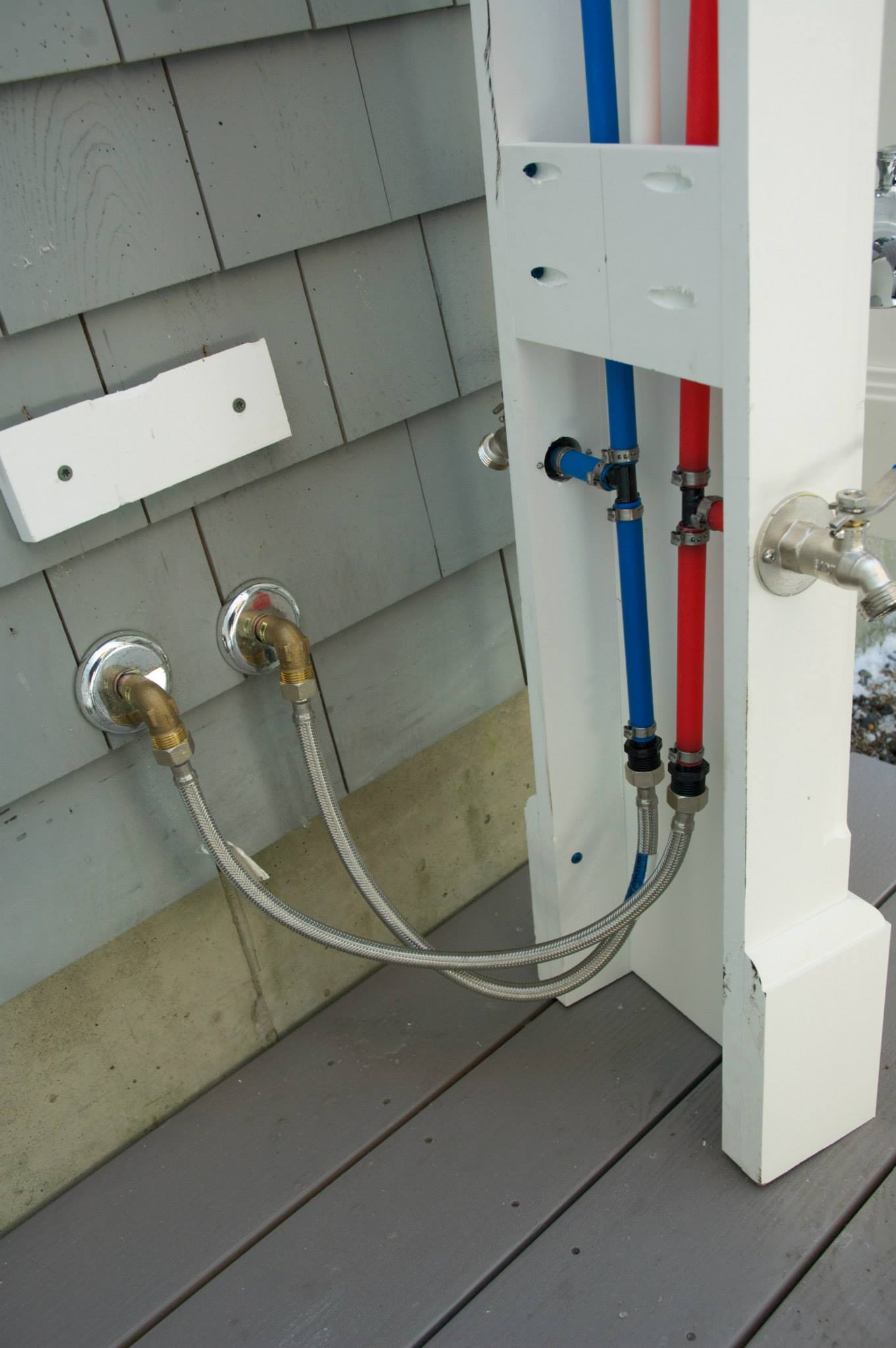 The Wellfleet New England Outside Showers Shower Electric Wiring